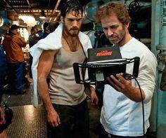 Henry Cavill y Zack Snyder en nueva imagen de rodaje de El Hombre de Acero (Superman).