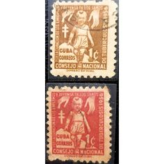 Cuba, Child, Tuberculosis Campaign, 1956, set of 2 stamps, used,