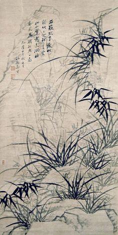 清代 - 鄭燮                                      Zheng Xie (1693 -1765), commonly known as Zheng Banqiao (鄭板橋) was a Chinese painter from Jiangsu.