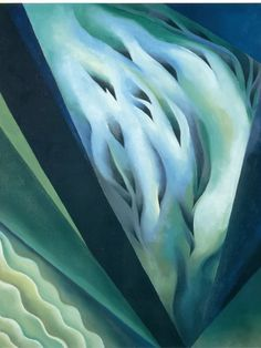 Georgia O'Keeffe (American, Blue and Green Music, Oil on canvas, x cm. The Art Institute of Chicago. Georgia O'keeffe, Alfred Stieglitz, Jeff Koons, Art History Lessons, Art Lessons, Canvas Artwork, Oil On Canvas, Canvas Size, O Keeffe Paintings