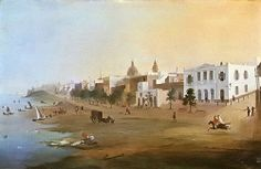 """Rodolfo Carlsen, """"Vista de Buenos Aires"""" (1845) - Corrientes y Paseo de Julio"""