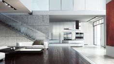 open-space apartment on Behance