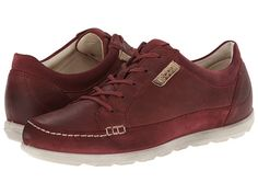ECCO Cayla Tie leather/suede port, black, mocha sz38 130.00