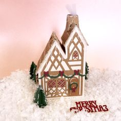 Box Houses, Putz Houses, Dragon House, George & Dragon, Tonic Cards, Glitter Houses, Christmas Themes, Tudor, Projects To Try
