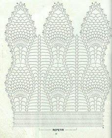 Kira scheme crochet: Scheme crochet no. Crochet Motifs, Crochet Diagram, Crochet Stitches Patterns, Crochet Chart, Thread Crochet, Filet Crochet, Crochet Scarves, Crochet Doilies, Stitch Patterns