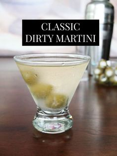 Dirty Martini Recipe Vodka, Best Martini Recipes, Cocktail Recipes, Dinner Recipes, Classic Recipe, Margarita Recipes, Vodka Cocktails, Cocktail Drinks, Gourmet