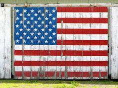 barn flag . . so americana
