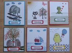 Einladungskarten Kindergeburtstag mit den Stempelsets von Stampin´up! Love you Lots, So süß, Baum der Freundschaft, Poesie auf 4 Pfoten, Hoch hinaus, Swirly Bird und weitere