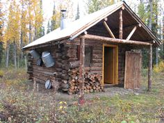 Lower East Fork Patrol Cabin in Denali National Park.