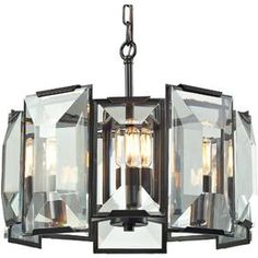 Goldie Crystal Pendant in Oil-Rubbed Bronze