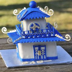 It's a pagoda cake.  I dare you to take a knife to that.