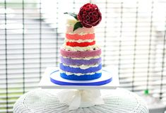 Rainbow Ombre Cake - Tutorial - Cake Central