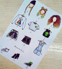 Alien season 👽💋 – What is your outfit? 💬… – Alien Season 👽💋 – Was ist dein Outfit? Kawaii Drawings, Art Drawings Sketches, Disney Drawings, Easy Drawings, Fashion Design Drawings, Fashion Sketches, Art Du Croquis, Social Media Art, Art Mignon