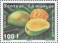Scented Stamps from French Polynesia - In August 2010, French Polynesia issued a stamp with the scent of the mango - the most popular fruit grown on its territory.     This is the 7th scented postage stamp issued by the post office.