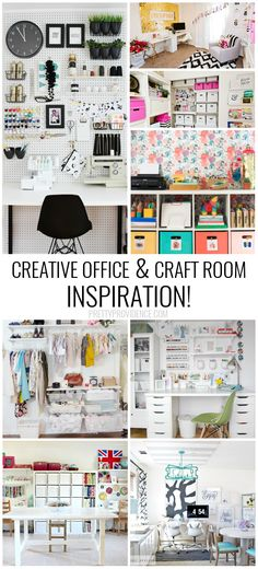 #CRAFTROOMGOALS Oh my gosh. These craft room ideas have organization + they are…