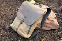 Image result for waxed canvas backpack laptop macbook pro