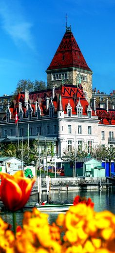 Chateau d'Ouchy, Lausanne, Switzerland   |   Amazing Photography Of Cities and Famous Landmarks From Around The World