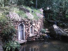 Home in the Secret Garden, made of wood and stone, Minnesota Renaissance Festival!