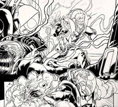 Spider-Gwen & Electro from Marvel Comics WEB WARRIORS. Pencils: David Baldeon, Inks: Walden Wong Sub me on www.youtube.com/WaldenWongArt . #marvel #marvelcomics #anime #manga #sketch #inker #comics #spiderman #spiderverse #illustration #arts #artwork #micron #spidergwen #comics #artworks #MCU #artwork #art #artist #draw #drawing #illustrate #arte #inking #inks #draweveryday #picoftheday #fineliner #doodleart #drawingoftheday #comicart