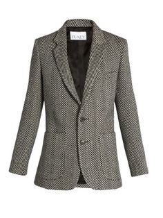 Long-line herringbone wool blazer | Raey - $420