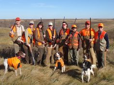 Women's pheasant hunt at Daybreak Lodge, Aberdeen, SD. We let a couple guys come along too. :-)