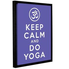 ArtWall Keep Calm and Do Yoga by Art D Signer Kcco Framed Textual Art on Wrapped Canvas Size: