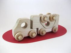 Wood Toy Car Transporter Truck Natural Maple
