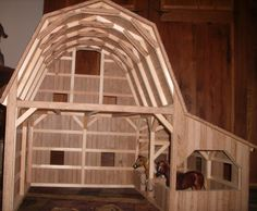 Hand Crafted Wooden Toy Barn #3 by Wild Cat Hollow Creations   CustomMade.com