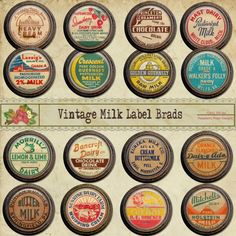 vintage milk labels