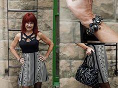 Dress, purse, and bracelet from Twigs. http;//www.twigs.ca Twigs Lookbook