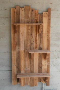 Pallet wood shelf idea, like the idea of a smaller one for a vanity wall