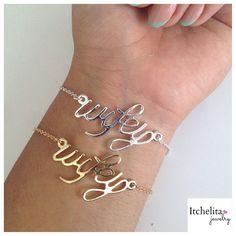 Image of Dainty Wifey Bracelet