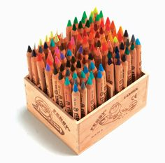 Plenty of colored pencils for all.