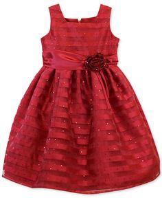 Jayne Copeland Little Girls' Striped Organza Dress