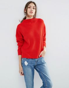 Image 1 of ASOS Ultimate Chunky Jumper with High Neck