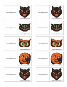 Free Vintage Halloween TagsWant to add a vintage name card to a Halloween party favor, tick or treat bag, or candy apple? Then just add the item to cart and we will send you an email with a link to download it.