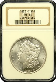 1882 O Morgan Silver Dollar NGC MS 64