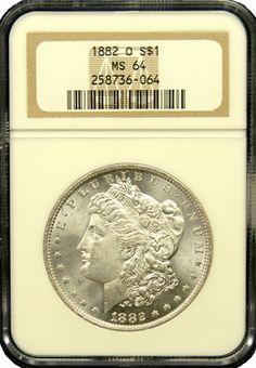 1882 O Morgan Silver Dollar NGC MS 64