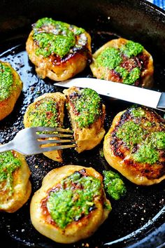 Forbidden City Chinese Meat Pies with Scallion Ginger Cilantro Butter - These amazing Chinese meat pies use a fresh homemade dough that encapsulates a spiced pork mixture, gets pan fried and then topped with a exotic scallion, ginger, cilantro butter. Simply outrageous and worth every minute to make.