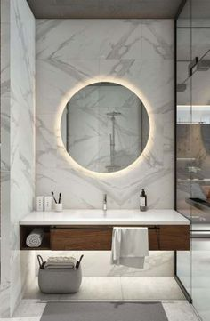 Are you searching for best bathroom mirror ideas? This beautiful bathroom mirror. - Are you searching for best bathroom mirror ideas? This beautiful bathroom mirror ideas are fun, sty - Minimalistic Design, Interior Design Minimalist, Modern Bathroom Design, Bathroom Interior Design, Studio Interior, Bath Design, Modern Bathroom Mirrors, Modern Design, Lighting In Bathroom