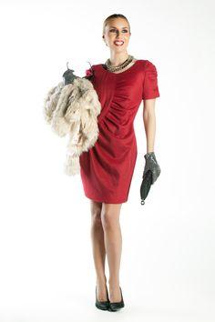 #BertaCollado con el vestido dawn a/w 2012 para El Armario de la Tele - #amarillolimon
