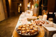 Rustic dessert displays at tower hill botanical wedding. Photo by Geneve Rege