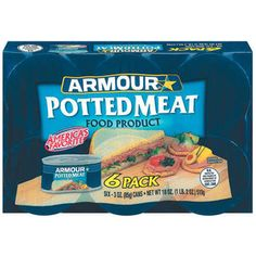 Armour: 3 Oz Potted Meat, 6 Pk
