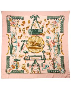 "Hermes ""Copeaux"" by Caty Latham Silk Scarf is on Rue. Shop it now."
