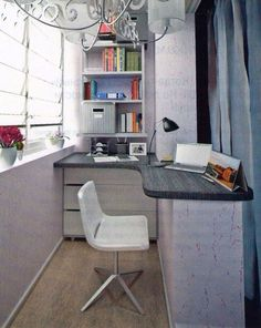 Fresh & Off Beat Home Office Design Ideas that's going to allow you to work from home in a stylish way. Inspire yourself with these modern Home Office decor Small Balcony Design, Small Balcony Decor, Home Office Design, Home Office Decor, House Design, Office Ideas, Balkon Design, Decoration Inspiration, Trendy Home