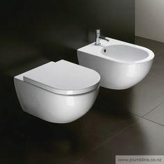 Sfera 54 Wall Hung Toilet With Standard Seat - Toilets & Bidets - Bathroom