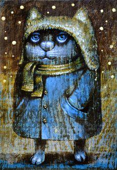 Просмотреть иллюстрацию Кот в пальто VIII из сообщества русскоязычных художников автора Павел Кульша в стилях: Персонажи, нарисованная техниками: Акрил. Watercolor Paintings Abstract, Art Paintings, Hindu Art, Cat Drawing, Cat Tattoo, Native Art, Tribal Art, Cartoon Drawings, Crazy Cats