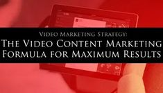Video Marketing Strategy: The Video Content Marketing Formula for Maximum Results My Lead System PRO - MyLeadSystemPRO Marketing Goals, Content Marketing Strategy, Social Media Marketing, Internet Marketing, Online Marketing, Affiliate Marketing, Success Video, Attraction, Free Training