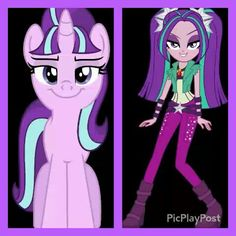 Coincaince? Starlight glimmer and Aria blaze