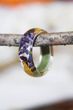 Garden Ring Pressed Flower Jewelry Preserved Flower Resin